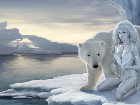 polar bear woman