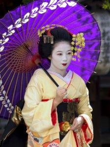 A Maiko in Japan