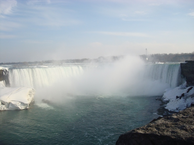 It was a cold cold day when I snapped this from the Canadian side of Niagara Falls.