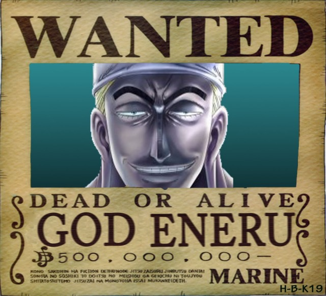 Enel: a self proclaimed jerk of a god in the anime One Piece.